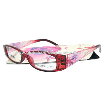 Reading glasses, PC injection, unique digital-printed patterns on temples