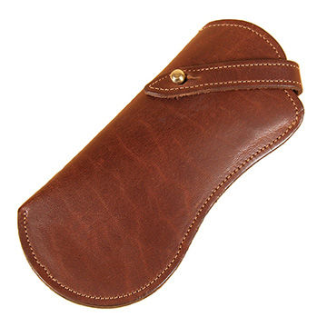 Factory handmade luxury leather eyeglasses case hot selling sunglasses cases for traveling