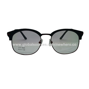 Stainless Steel Fashion Slim Metal Optical Frame with Acetate Tip