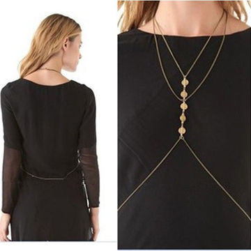Wholesale Stylish Lady's Sexy Jewelry Body Chain for Women, Various Size/Color, Eco-friendly