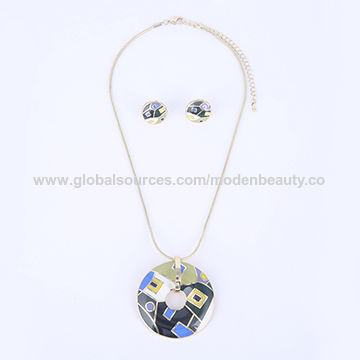 Jewelry Sets, Zinc Alloy Enameled, 14K Gold Plated Lead/Nickel-free/Christmas Gifts