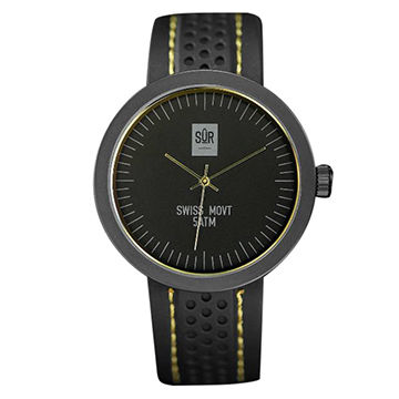 Stainless Steel Fashion Watch with Swiss Movement