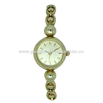 Fashionable ladies' watches, alloy case, with alloy strap