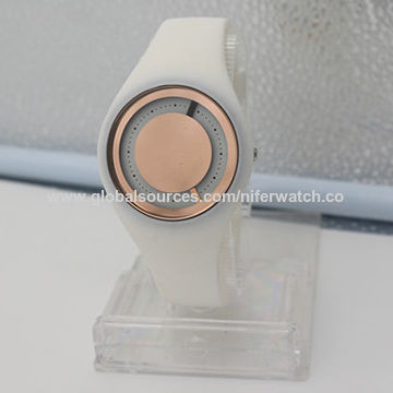 New design water-resistant silicone alloy quartz watch, suitable to wear for young