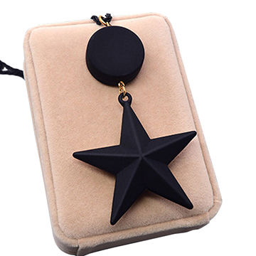 Fashion exaggerated star alloy resin pendant necklace, small order accepted