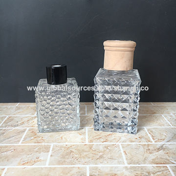 Two Size Glass Square Air Freshener Bottle 80ML