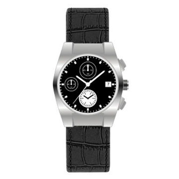 Multiple Functions Analog Watch with Stainless Steel Case and 10ATM Waterproof