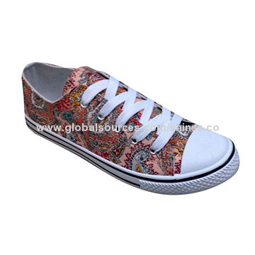 Women casual shoes with canvas upper and PVC injection outsole, new design