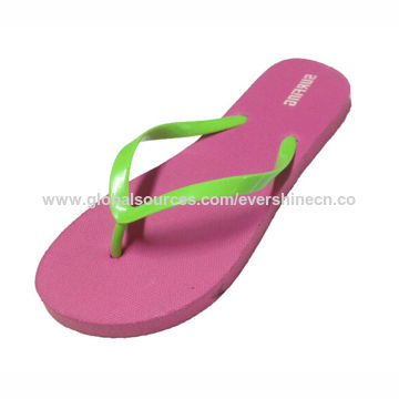 Women's PE Flip-flops, Various Colors are Available
