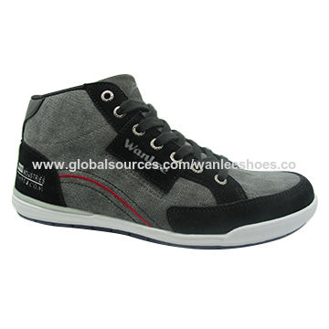 Men's comfortable lace-up leather high-heel casual shoes