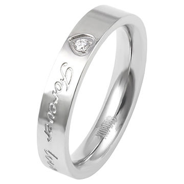 13982 fashion cool stainless steel ring, engraved with love words