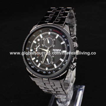Stainless Steel Watch, 5ATM Water-resistant, Japanese Quartz Movement, OEM/ODM Services