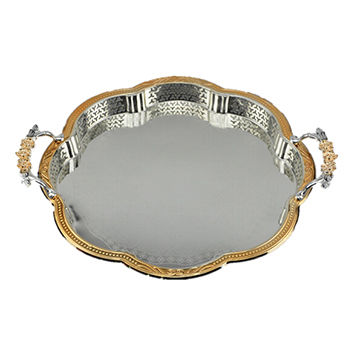 Stainless Steel Serving Tray, Square Shape, Made of Stainless Steel
