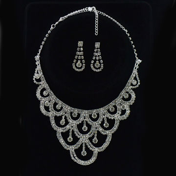 Top Selling Custom Rhinestone Bride Jewelry Sets for Fashion Lady, Various Size/Color, Eco-friendly