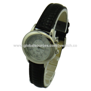 Hot-selling ladies' watch, alloy case and PU leather material band