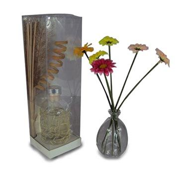 100mL mosaic crystal aroma reed diffuser with rattan sticks