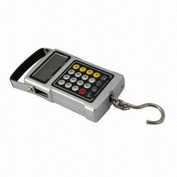 Multifunction Black Electronic Luggage Hanging Weighing Scale with Low Battery Indicator/Calculator