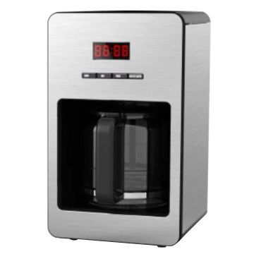 Drip Coffee Maker with Digital Display in Red Color