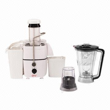 Multi-food processor, wide feed opening/tube (75mm), stainless steel spinner, blades, handle lever
