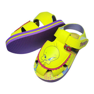 Children's Sandals, EVA Upper with EVA Sole, Available in Various Designs and Logos