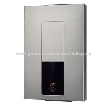 10L gas water heater with stainless steel panel force exhausting type