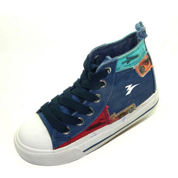 Popular and colorful canvas shoes for children, jeanshoes