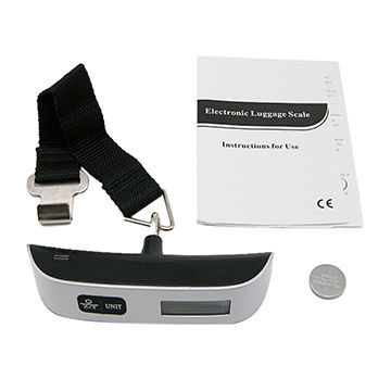 Portable Digital Luggage Scale with Strap/Hook and Temperature/Time Display Travel Weight