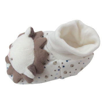 AOP baby shoes with lion stitched