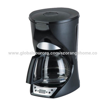 1.5L program function coffee machine with digital timer and LCD display, program coffee maker