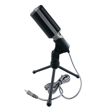 Electret microphone with tripod stand