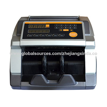 Currency counting machine with UV/MG/IR discrimination value counter