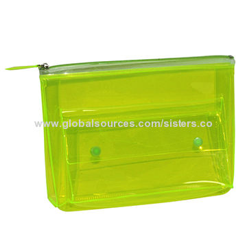 Clear PVC Cosmetic Bag, Available in Various Colors and Designs