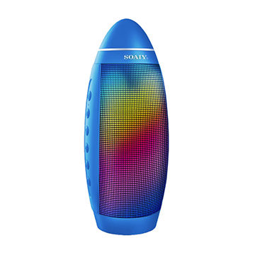 Bluetooth speaker with LED light, double 5W drivers, powerful surround stereo sound, high quality