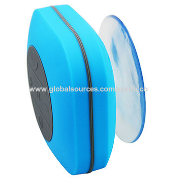 Bluetooth shower speaker w/ suction cup, IP grade: IPX4, supports A2DP, AVRCP, HFP, HSP music format