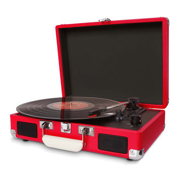 USB portable briefcase vinyl turntable record player for sale