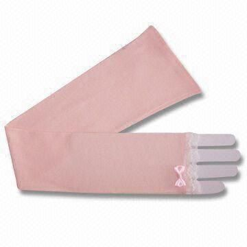 Pink Cotton Knitted UV Gloves, Made of 100% Cotton, with Anti-ultraviolet Function, Various Styles